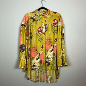 Free People Silky Nights Oversized Button Down